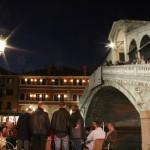 Rialto Bridge at night