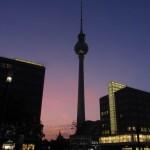 Fernsehturm at night