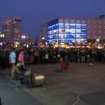 Drums and dancing in Alexanderplatz