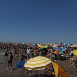 Crowded beach madness
