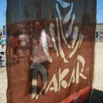 Me behind Dakar flag